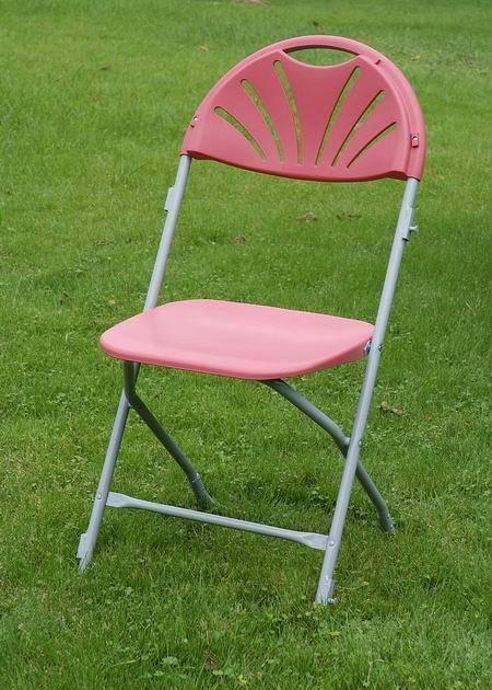 White/Black/Burgandy Fanback Folding Chair(YOMO-002)