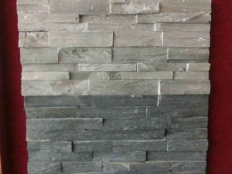 Grey Slate Stacked Stone