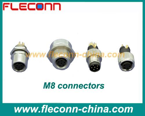 M8 Connectors with Panel Mount and Molded Types