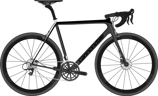 2017 CANNONDALE SUPERSIX EVO HI-MOD BLACK INC ROAD BIKE