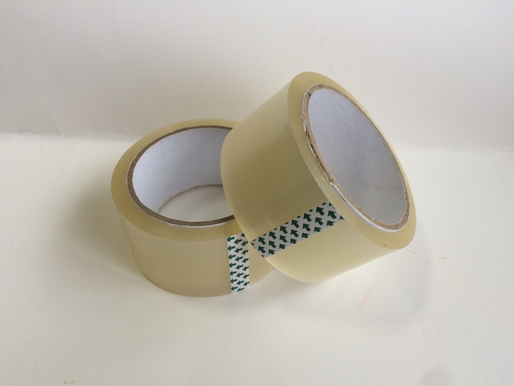 Transparent tape for carton sealing