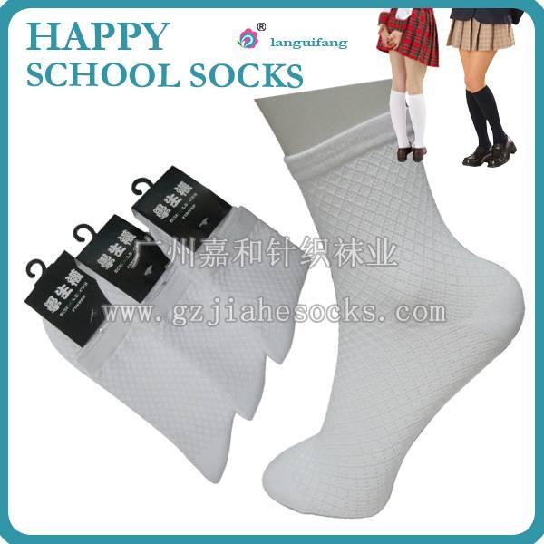 Summer thin mesh breathable school socks white student socks
