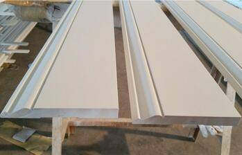 Primed finger joint base board pine moulding