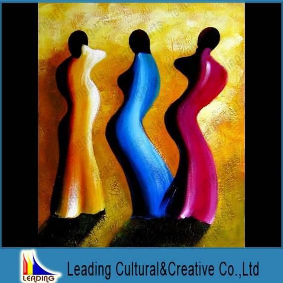 modern abstract figure oil painting on canvas