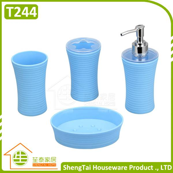 Helix Pattern Simple Candy Color Useful Bathroom Sets