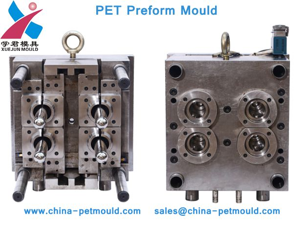 used plastic household pet injection preform mould for 4 cavity