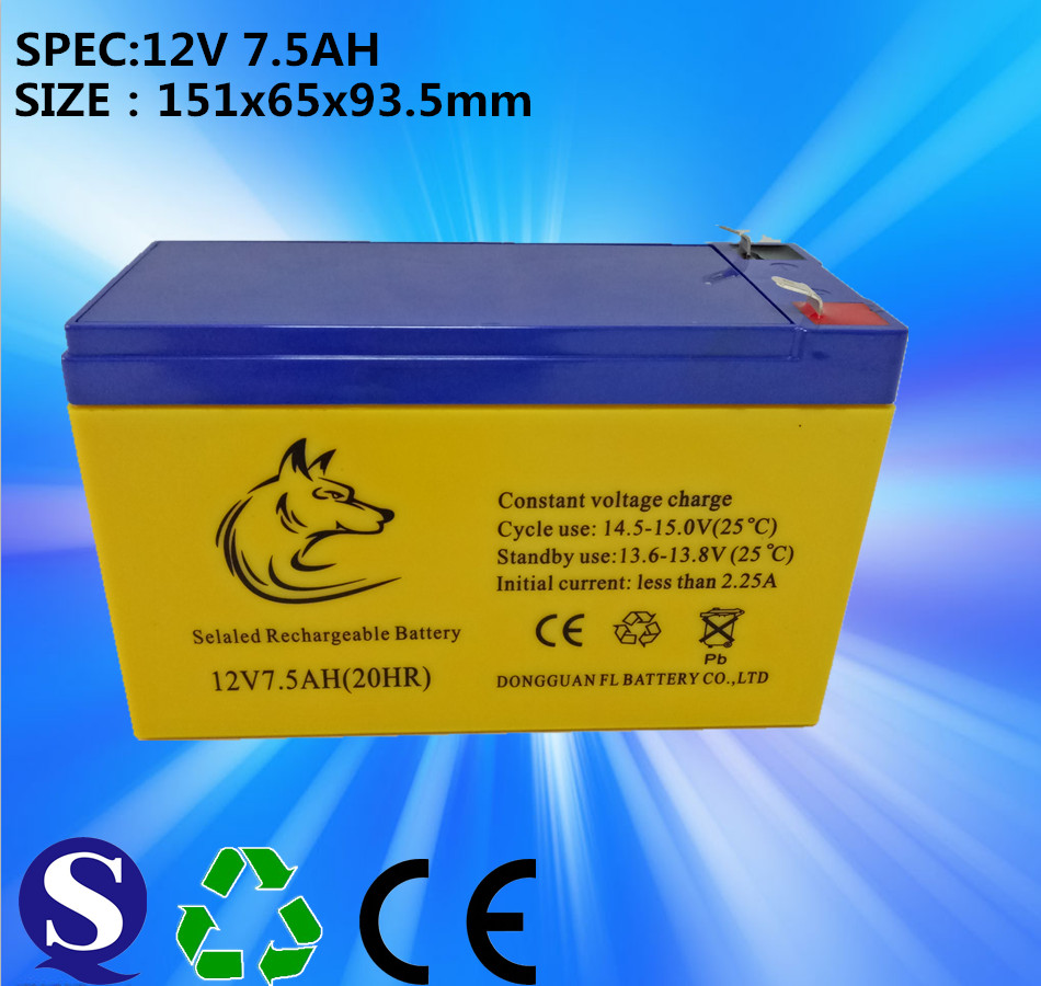 Factory Price 12v 7.5ah Lead Acid Gel Dry Rechargeable Maintenance Free Battery