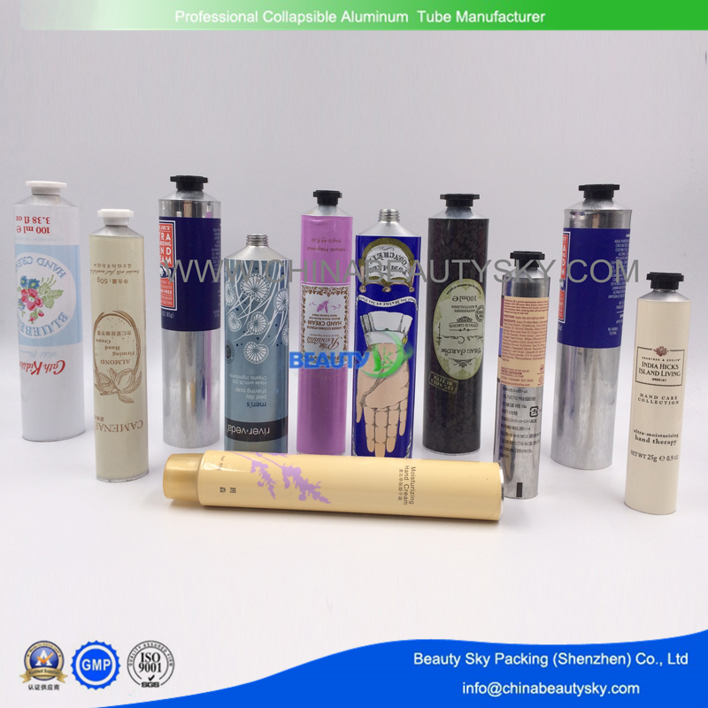 cosmetic packaging aluminum tube golden color