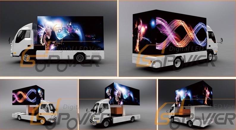 SoPower Digital AD Truck Mobile Mounted LED Screen Vehicle iTruck40