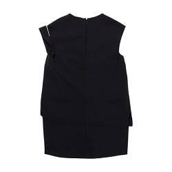 One shoulder strap black blouse