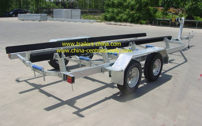 8.2m fully hot dip galvanised boat trailer
