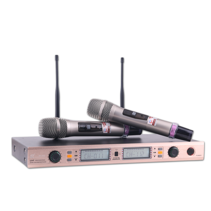 Hot-sale item /Shuri Brand UHF Wireless Handheld Microphone Dual Channel Transmitter