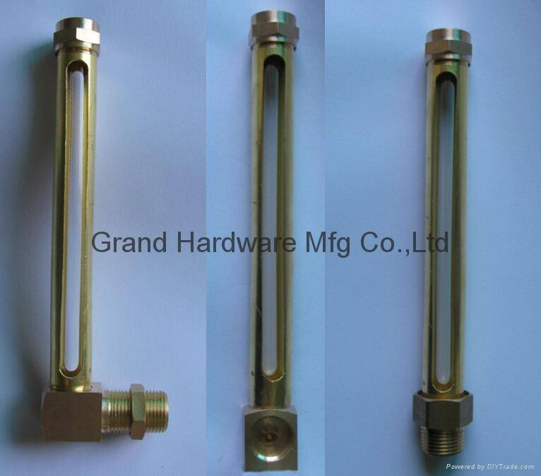 Brass Tuber Oil level gauge with real glass
