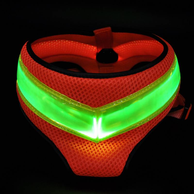good quality LED flashing dog harness