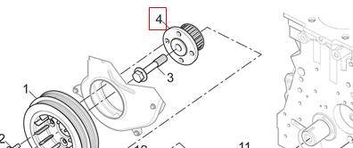 SAIC MAXUS V80 parts Timing Pulley C00014681 Genuine