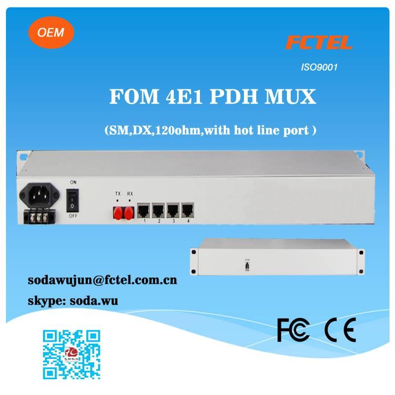 mini type PDH 4E1 to fiber optical multiplexer