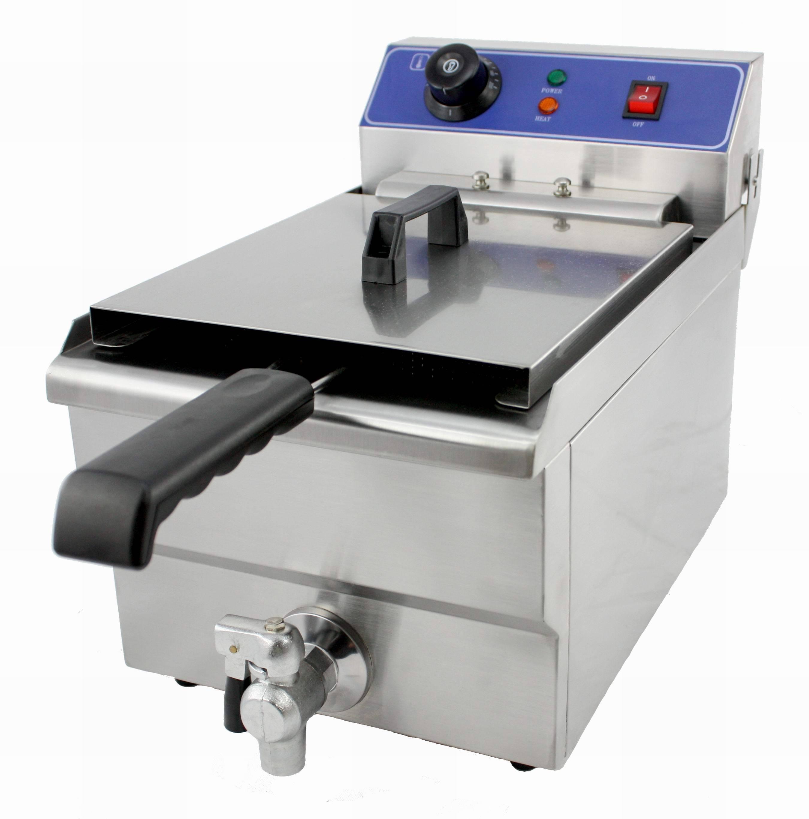 Electric Deep Fryer With Valve(Temperature controller:60°C~200°C)