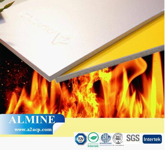 ALMINE---a2acp,fire resistant acp sheet, fire rated panel for building, fireproof facade cladding,cu