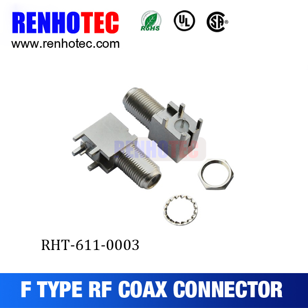 right angle female/jack F connector