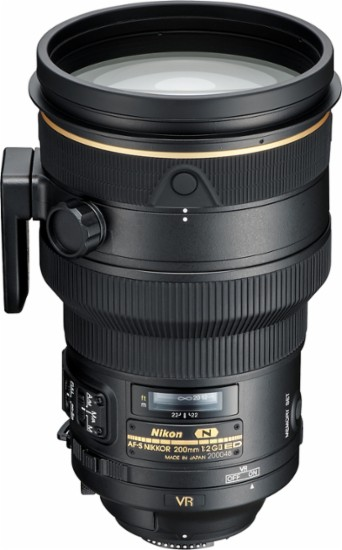 Nikon - AF-S NIKKOR 200mm f/2G ED VR II Telephoto Lens for Select Nikon Cameras - Black