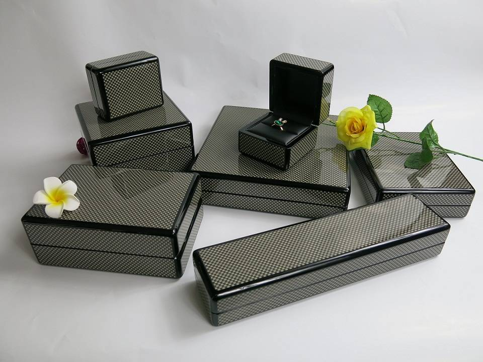 Carbon Fiber Wooden Jewelry Box Set