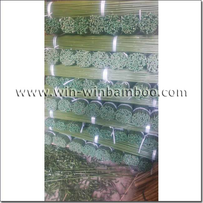 plastic sleeve coated bamboo canes