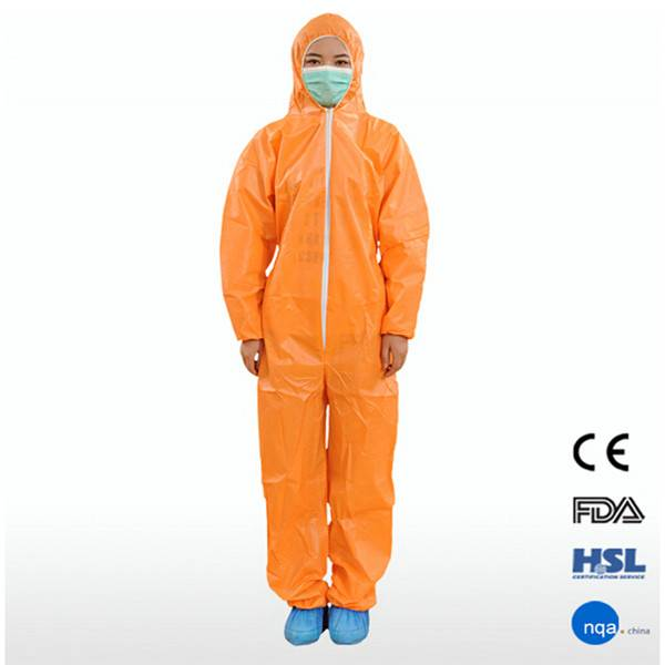 2015 New Safety Disposable Working Overalls with hood