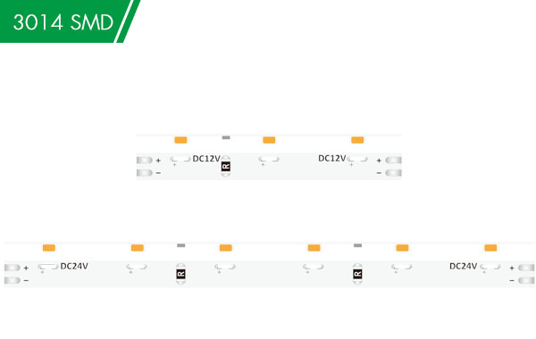 DC12/24V 3014 60LED 5mm White (Side View) Strip light