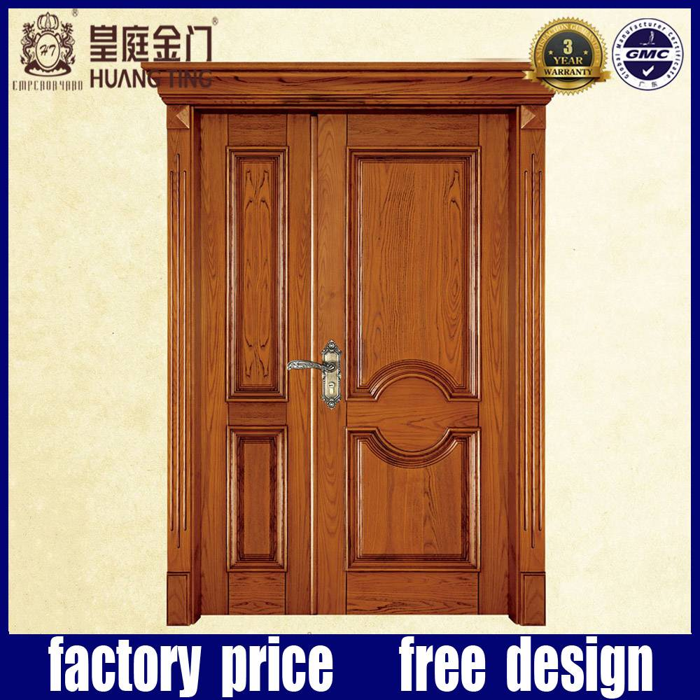 interior big and small double entrance wood door