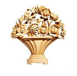 OEM Decorative Furniture Onlays Appliques, Hand Carved Wooden Applique, Factory Supplied