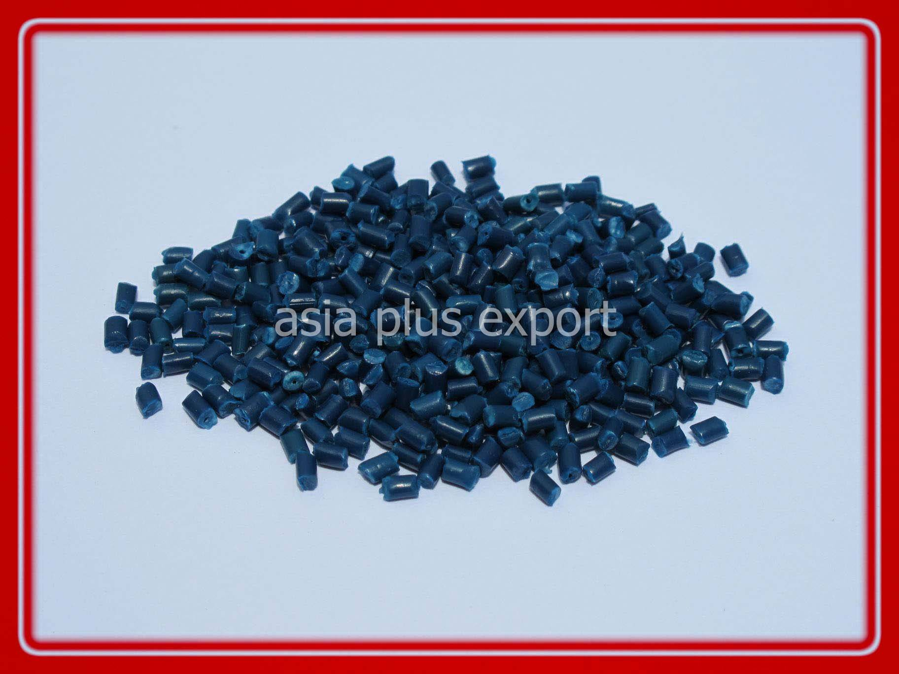 recycle pp granule blue color