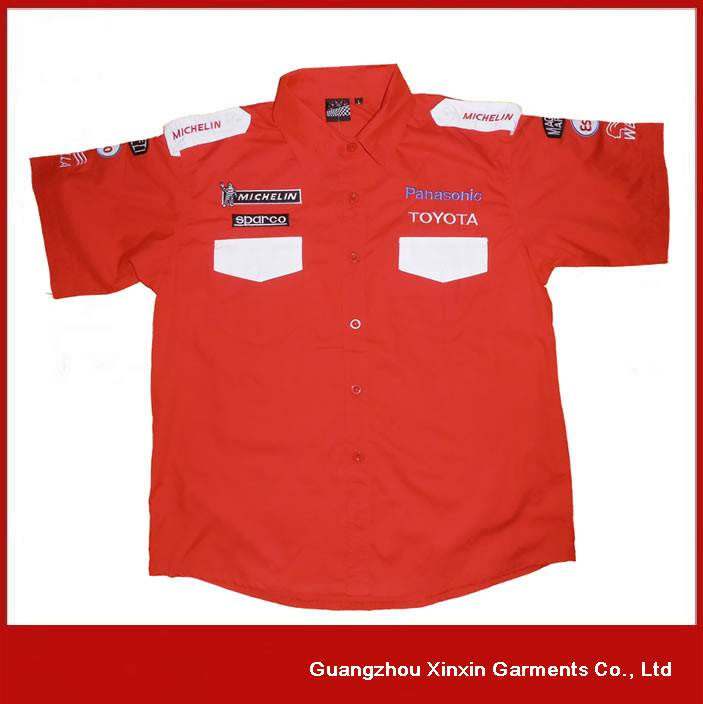 hot sale cotton F1 racing customizable shirts repair factory