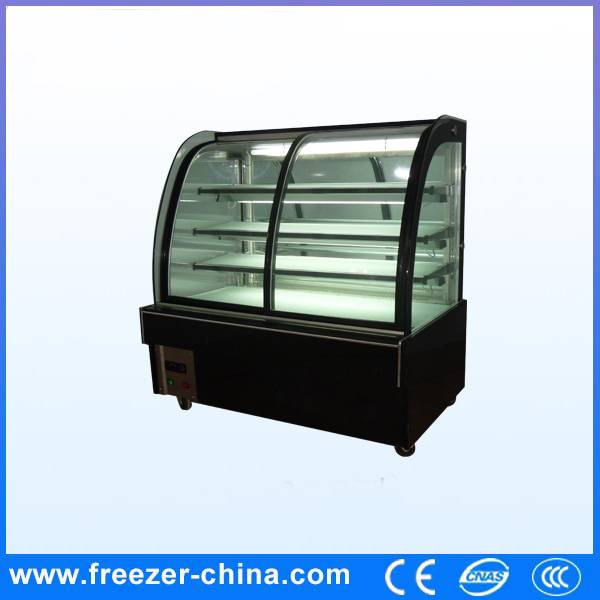 Curved Glass Static Cooling Cake Fridge