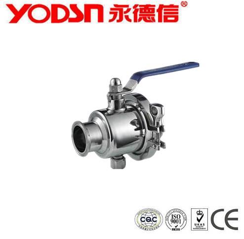 2 piece stainless steel sanitary ball valve