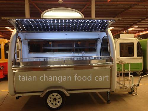 China Mobile Street Food Cart with LED Window