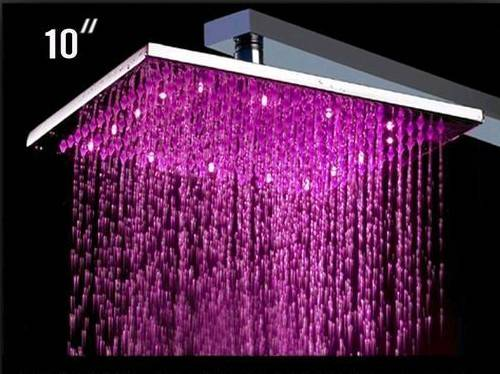 LED Shower (Water pressure self-powered) with chrome plating, made of brass