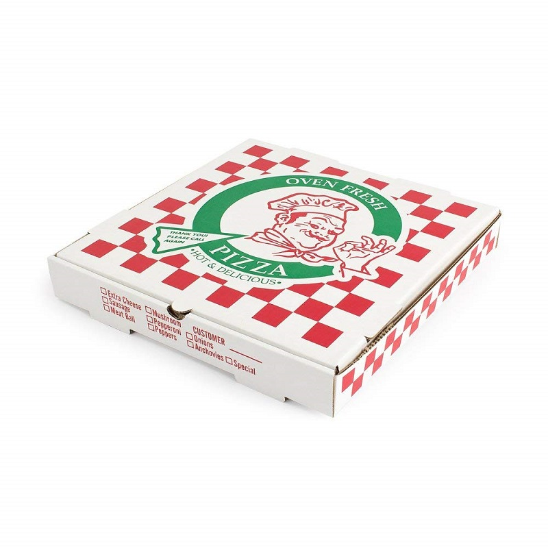 6 inch reusable corrugated pizza box shaped for food packing