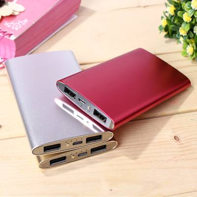 2016 Ultra-Thin Power Bank 4000mah Portable Wallet Smart Phone Charger with LED