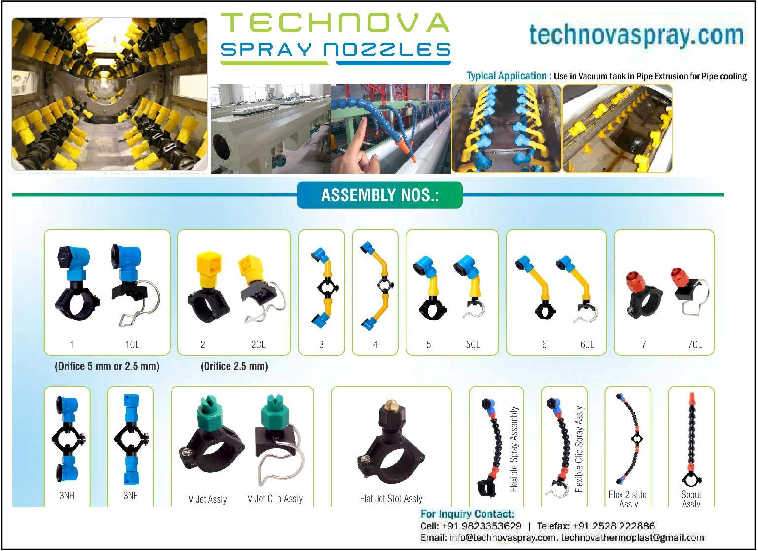 SPRAY NOZZLES FOR VACUUM COOLING TANKS