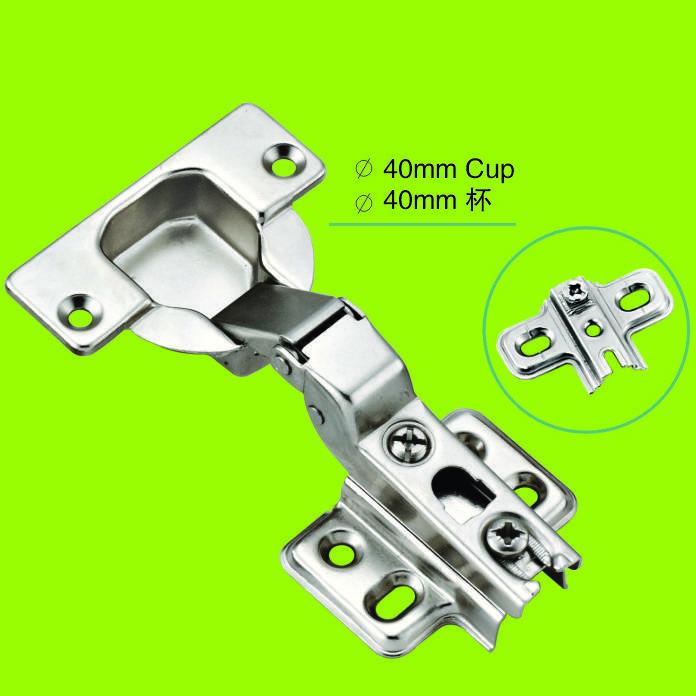 two way hinge half-overlay 40mm cup furniture hinge