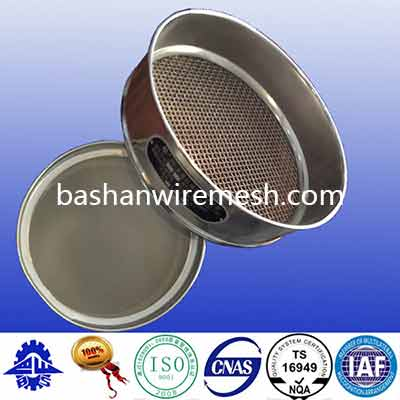 Stainless Steel Frame 200 mm 300mm Square Mesh Laboratory Test Sieve