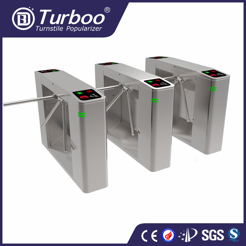 Turboo HC149:semi-automatic tripod turnstile,barrier gate with barcode reader,pedestrian gate