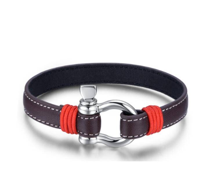 Hot Sale High Polished Gunium Leather Bracelets Daily Simple Clasp String Multicolor