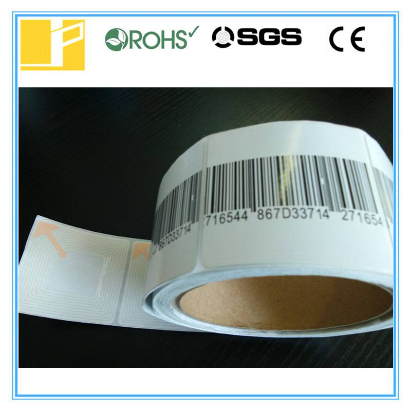 Barcode RF label for retail store