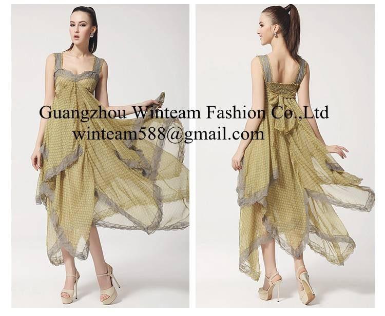 2014 latest long chiffon maxi dress for girl alibaba dresses with strape