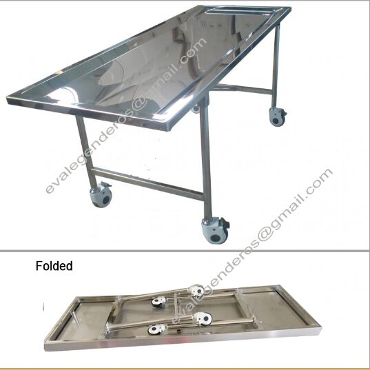 Funeral Stainless Steel Foldable Embalming Table