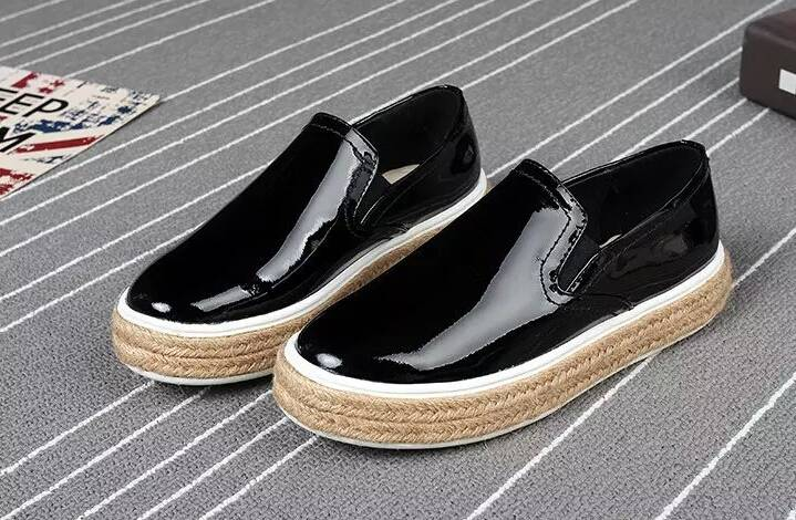 glitter genuine leather straw rubber outsole loafer shoe for girls