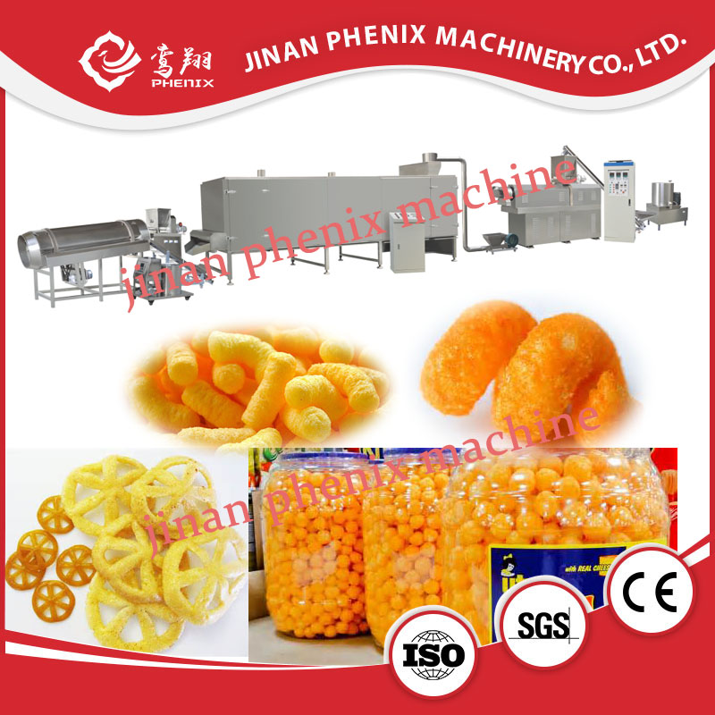 automatic corn snack food extrusion making machine