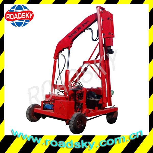 Highway Safety Crash Barrier Installation Machine