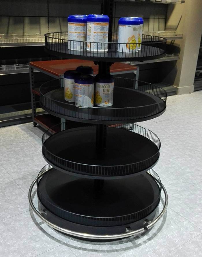 round tube promotion store shelving